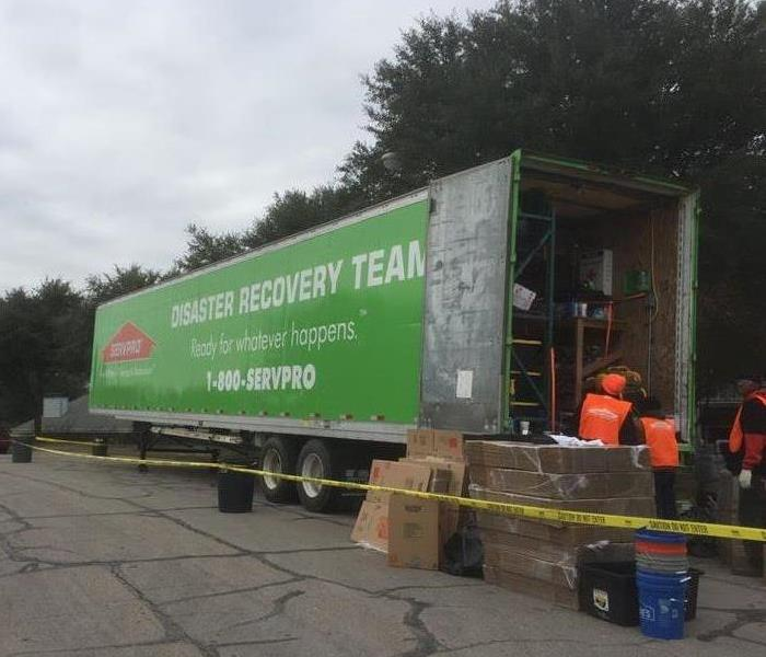 SERVPRO of Waco Commercial Large Loss Team Before