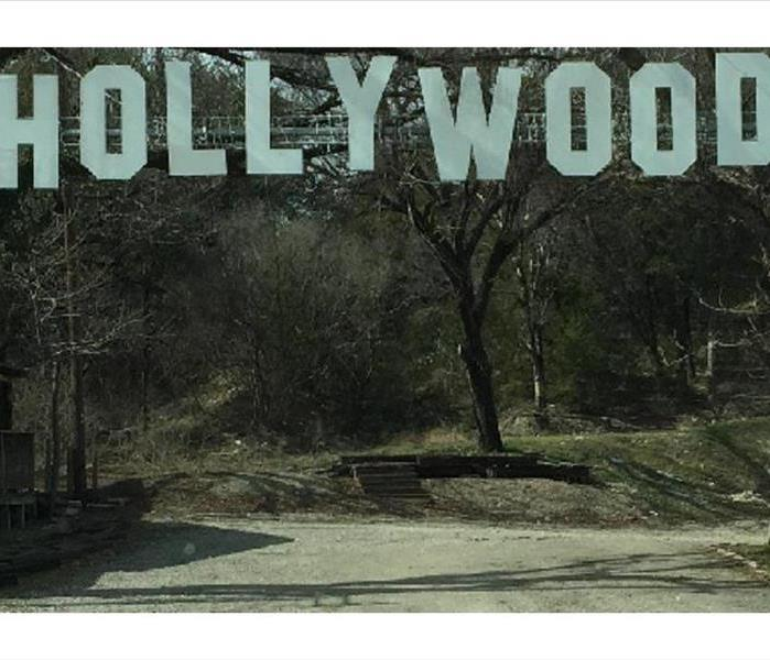 A resemblance of the famous HOLLYWOOD sign